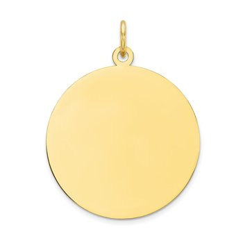 10K Plain .013 Gauge Circular Engravable Disc Charm