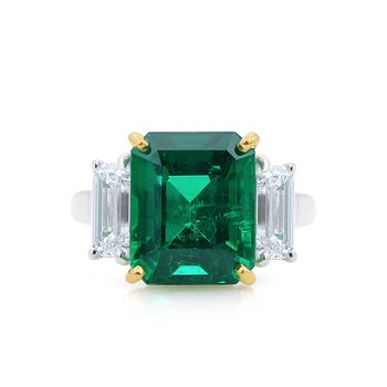 18kt Gold & Platinum 5.21ct Emerald Ring