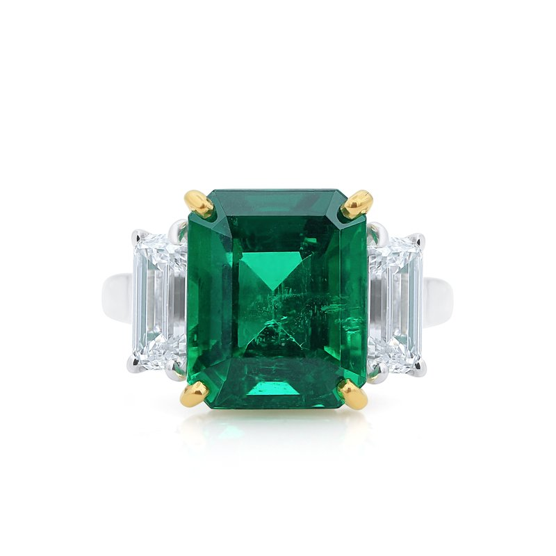 Oscar Heyman 18kt Gold & Platinum 5.21ct Emerald Ring