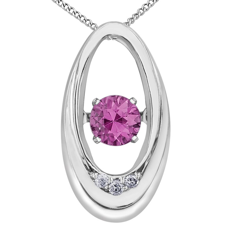 Diamond Wishes Pink Topaz Pendant