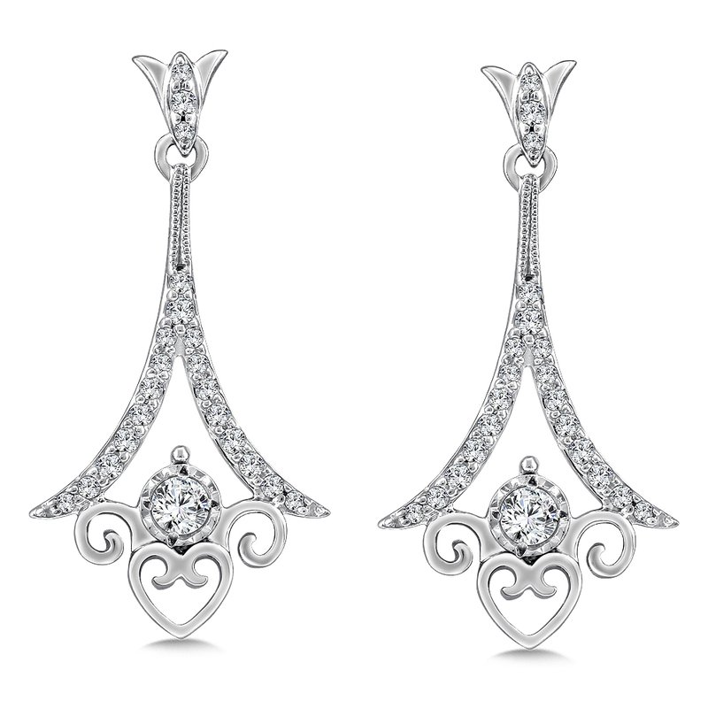 SDC Creations Diamond Drop Earrings in 14K White Gold (.33 ct. tw.)