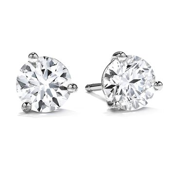 3 ctw. Three-Prong Stud Earrings