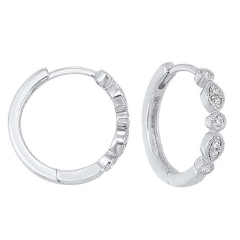 Geometric Diamond Earrings in 14K White Gold (1/7 ct. tw.)