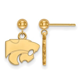 Gold Kansas State University NCAA Earrings