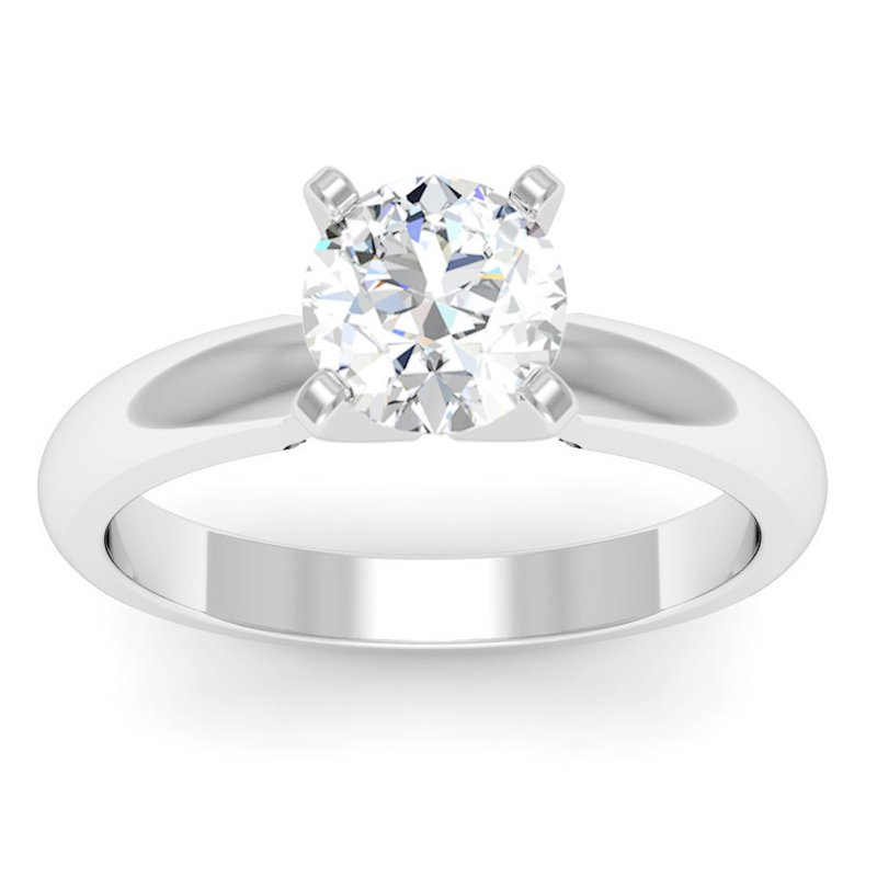 J.F. Kruse Signature Collection Classic Four Prong Engagement Ring