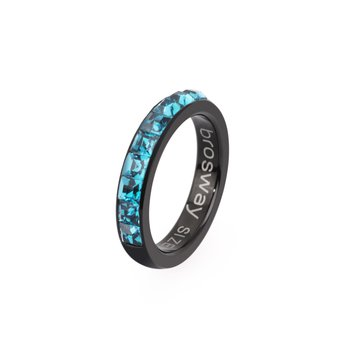 316L stainless steel, black pvd and indicolite Swarovski® Elements