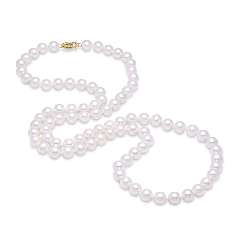 "Mastoloni Pearls 8MM 30"" Freshwater Pearl Strand Necklace"
