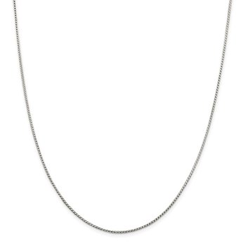 Sterling Silver 1.25mm Round Franco Chain