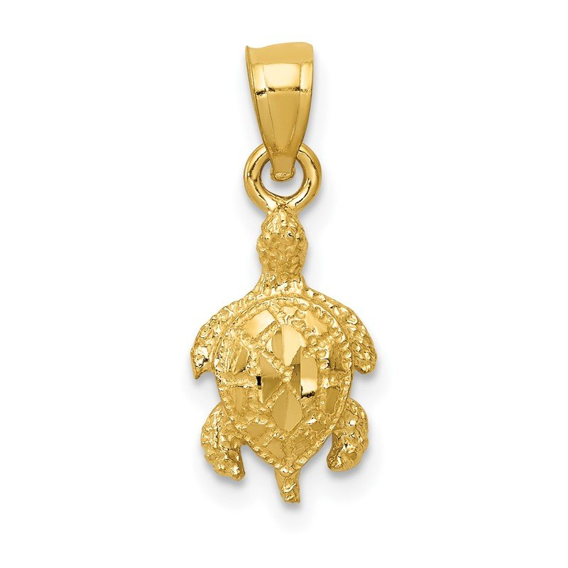 Quality Gold 14K Turtle Pendant