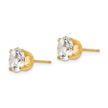14k 8mm CZ stud earrings