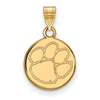 Gold-Plated Sterling Silver Clemson University NCAA Pendant
