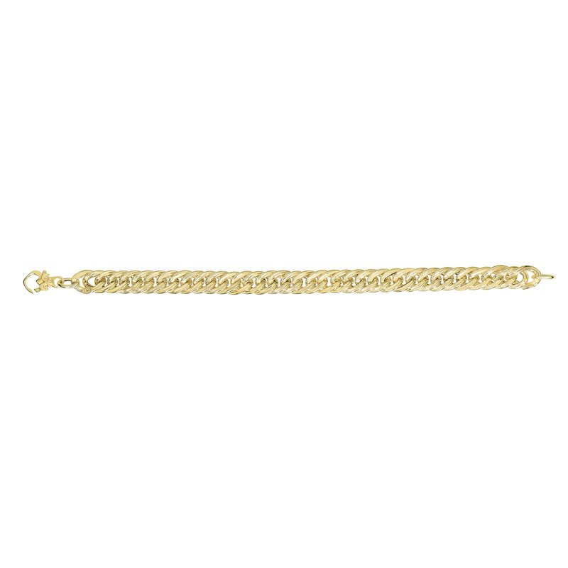 Royal Chain 14K Gold Fancy Curb Inspired Heritage Link
