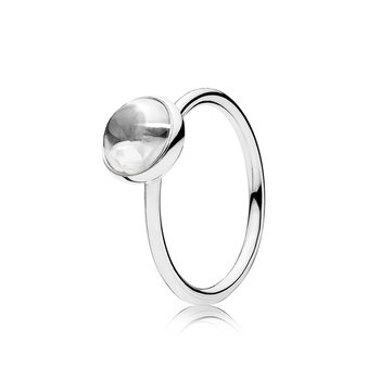 Poetic Droplet Ring, Clear CZ