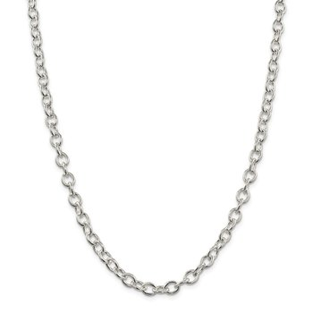 Sterling Silver 6.8mm Oval Cable Chain