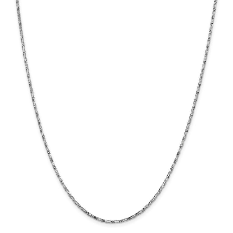 Leslie's Leslie's 14K White Gold 1.6mm D/C Long Link Franco Chain