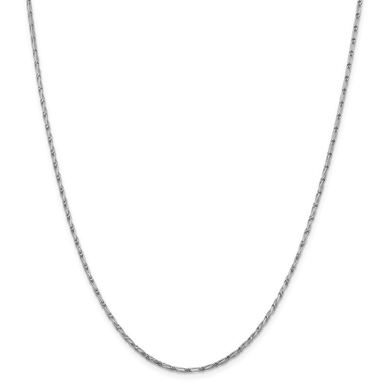 Leslie's Leslie's 14K White Gold 1.6 mm D/C Open Long Link Franco Chain