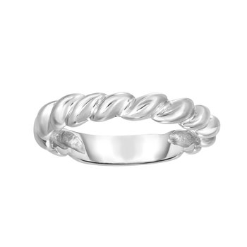 14K Gold Thin Twisted Band