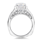 Valina Bridals Mounting with side stones .70 ct. tw., 2 ct. round center.