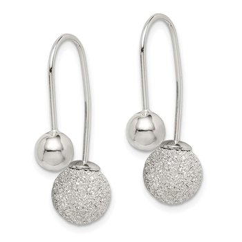 Sterling Silver D/C Front and Back Dangle Earrings