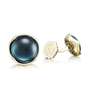 Cabochon Cuff Links featuring Sky Blue Hematite