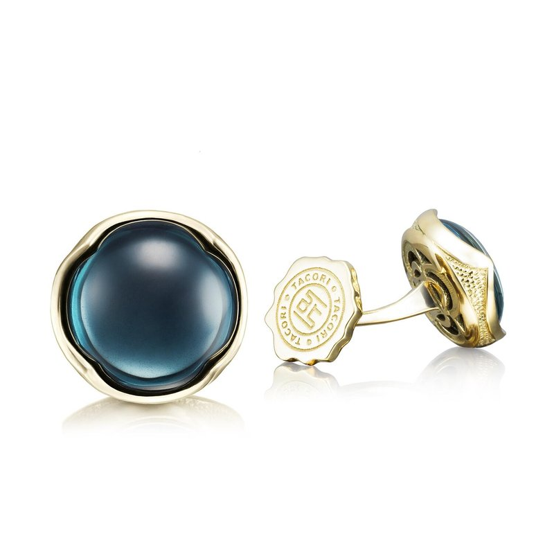Tacori Fashion Cabochon Cuff Links featuring Sky Blue Hematite