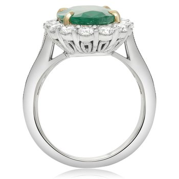 Flowering Halo Emerald Ring