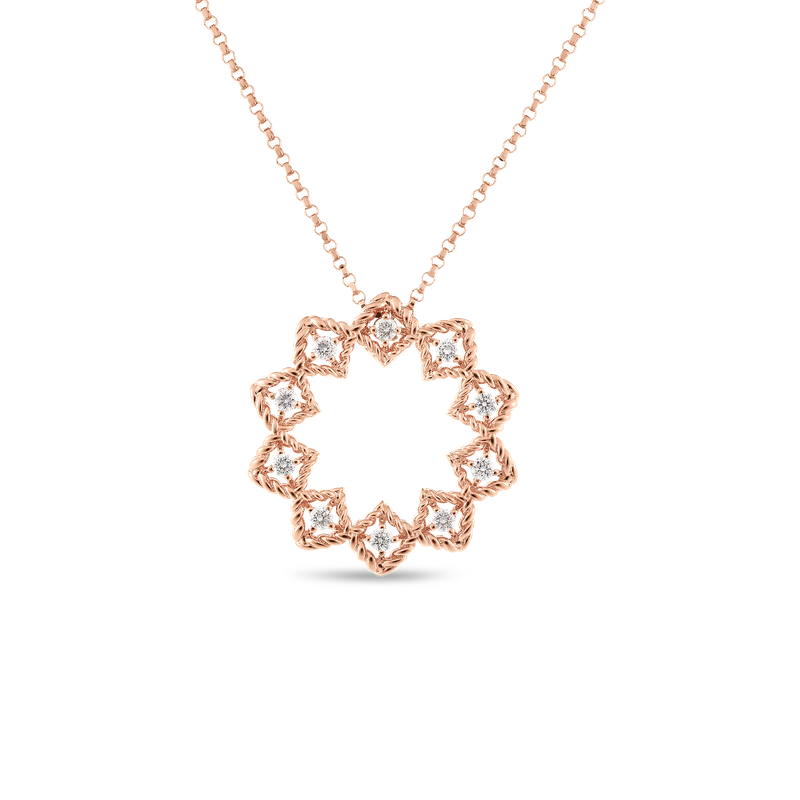 Roberto Coin 18KT GOLD MEDIUM STARBURST PENDANT WITH DIAMONDS
