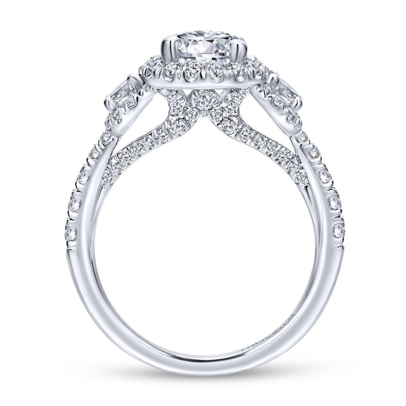 Gabriel Catalog 14K White Gold Round Diamond Engagement Ring