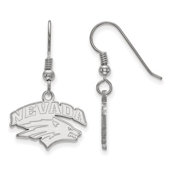Sterling Silver University of Nevada NCAA Earrings