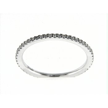 14K W ETERNITY BAND 52RD 0.27CT