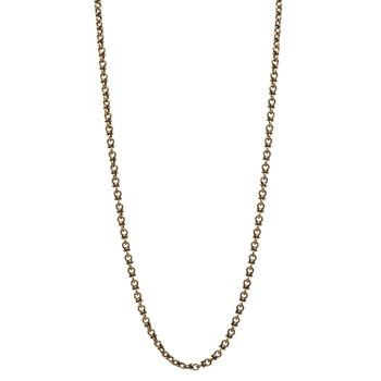 Brass Round Chain Necklace with Granulations
