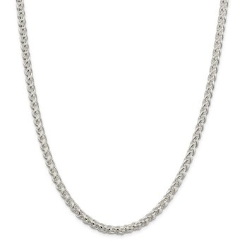 Sterling Silver 5mm Round Spiga Chain