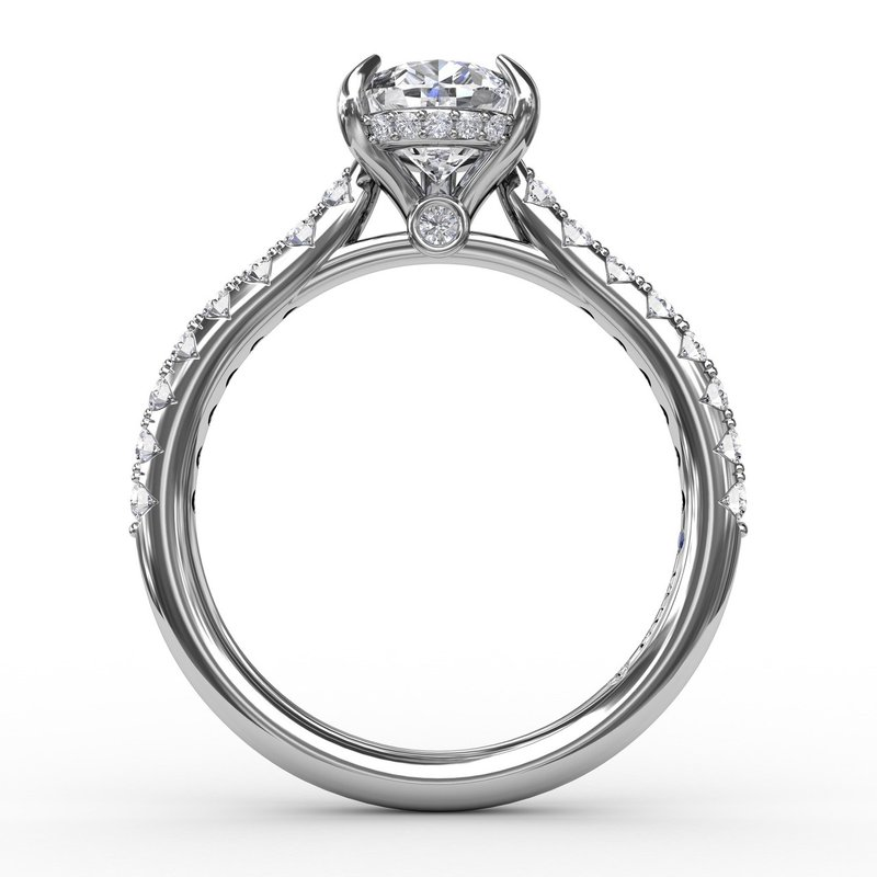 Fana Pear Cut Solitaire With Hidden Halo