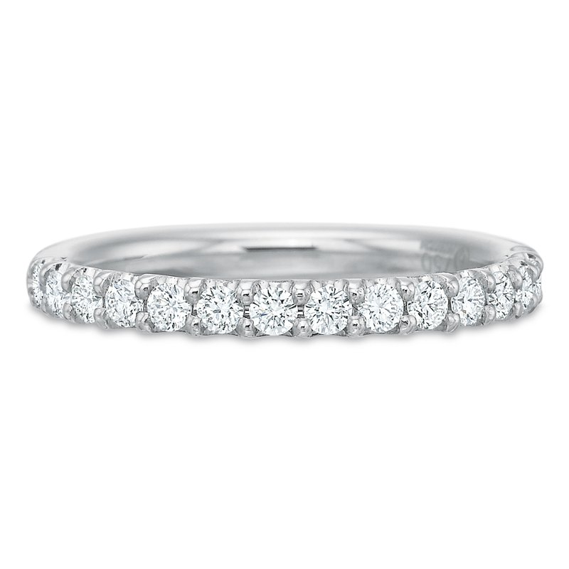 Precision Set 18K White gold diamond band