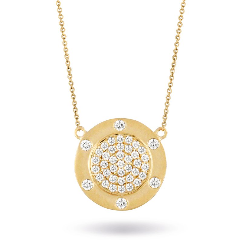 Doves Diamond Fashion Disc Necklace