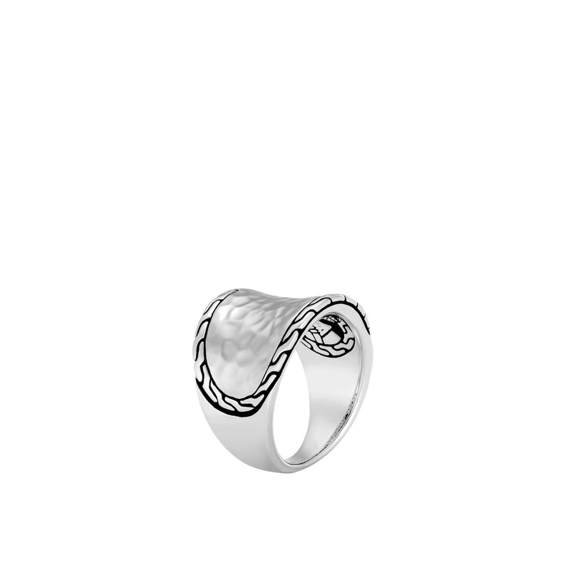 John Hardy Classic Chain Hammered Saddle Ring