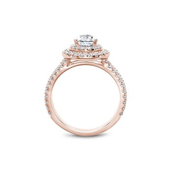 Pear Shaped Double Halo Engagement Ring
