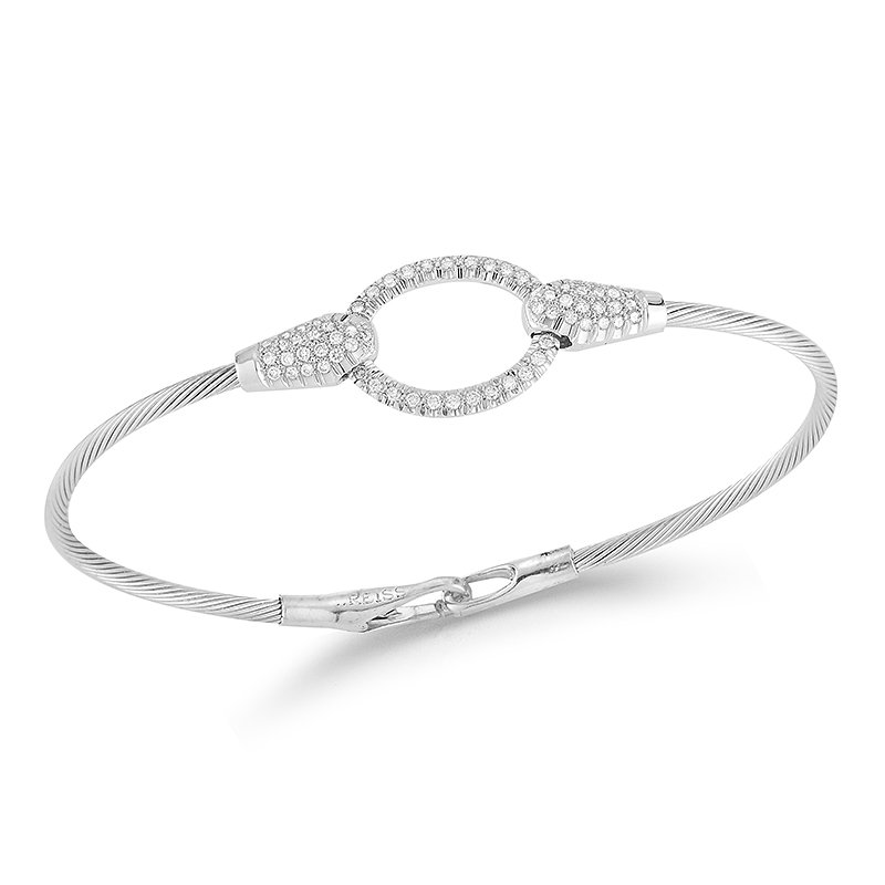 I. Reiss 14K-W WIRE BRACELET 0.55CT