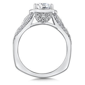 Diamond Engagement Ring Mounting in 14K White/Rose Gold (.39 ct. tw.)