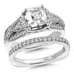 Valina Diamond Engagement Ring Mounting in 14K White/Rose Gold (.39 ct. tw.)