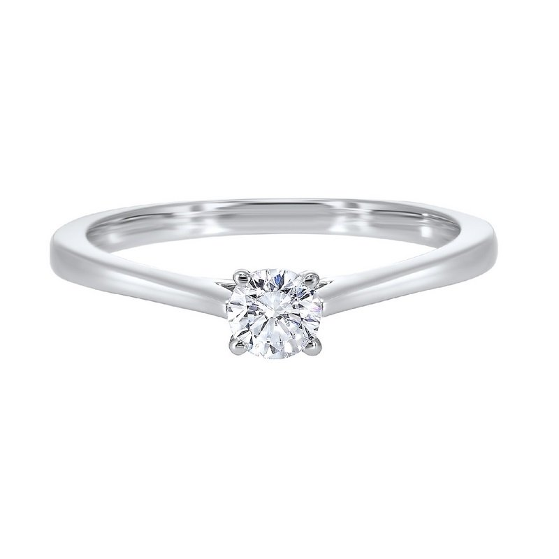 Gems One Diamond Round Classic Solitaire Engagement Ring in 14k White Gold (3/4ctw)