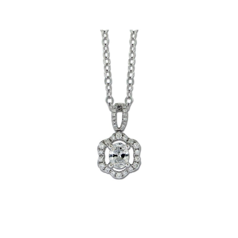 James Breski Oval Diamond Wave Pendant
