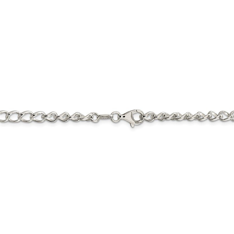 Quality Gold Sterling Silver 4.5mm Half round Wire Open Curb Chain
