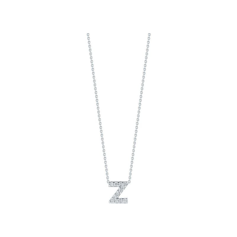 Roberto Coin Love Letter Z Pendant With Diamonds