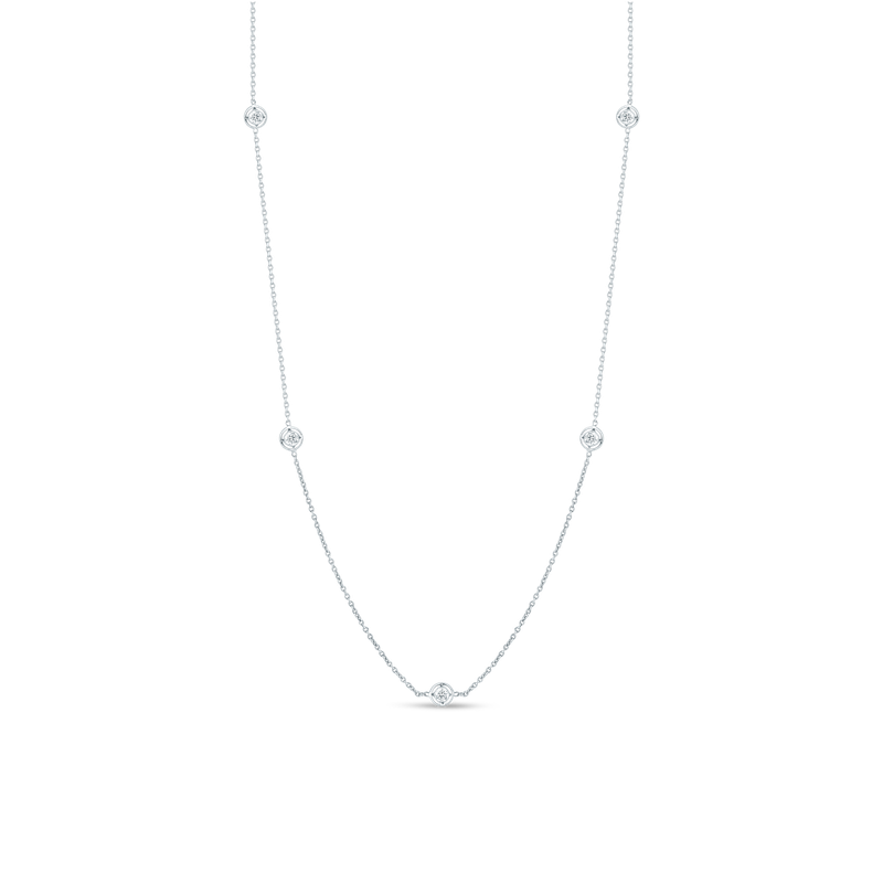 Roberto Coin  #2095 Of Necklace With 7 Diamond Stations