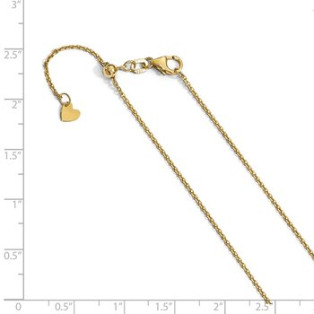 Leslie's 14K 1.25 mm Diamond-cut Adjustable Cable Chain