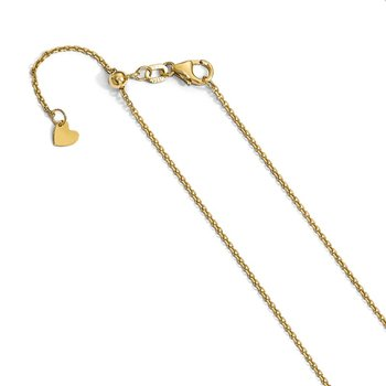 Leslie's 14K 1.25 mm D/C Adjustable Cable Chain