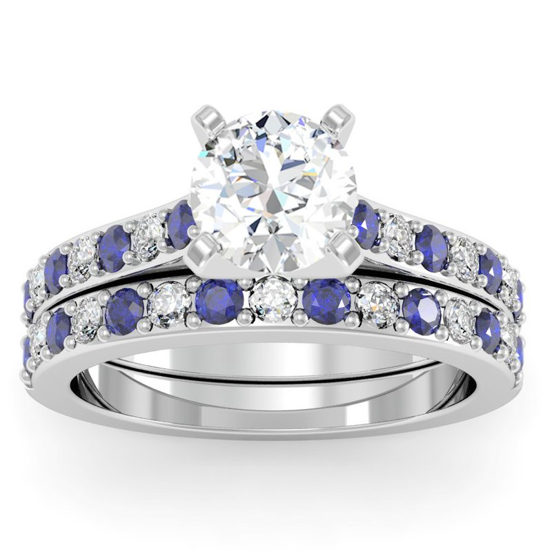 California Coast Designs Pave Blue Sapphire & Diamond Band