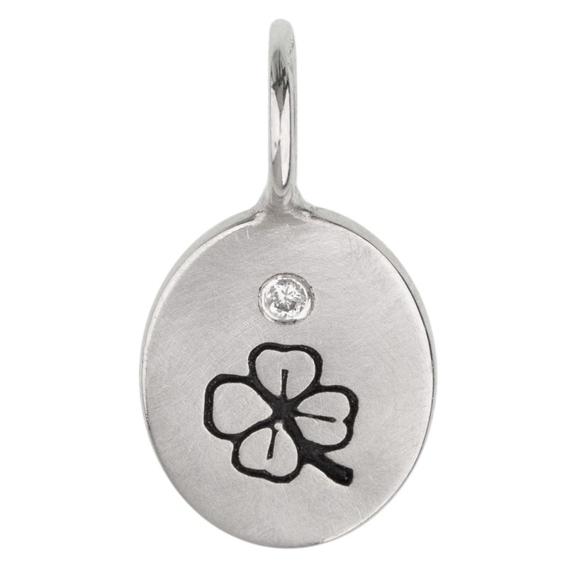 Heather B. Moore Clover Oval Charm