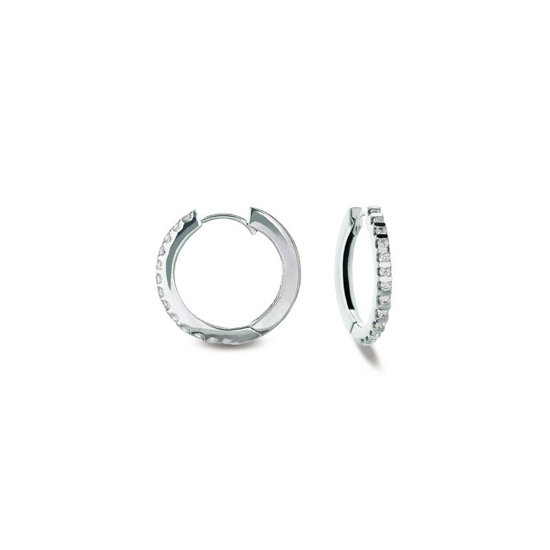 Briana White Gold Hoop Earring